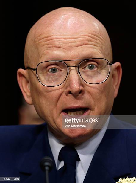 Commandant of the Coast Guard Adm Robert Papp Jr testifies with US military leaders before the Senate Armed Services Committee on pending legislation...