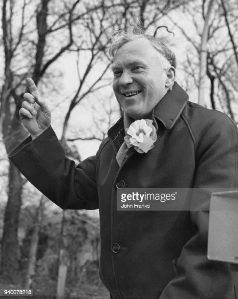 Commander Anthony Courtney a former officer in the Royal Navy and the Conservative candidate in the Harrow East byelection 19th March 1959 The...