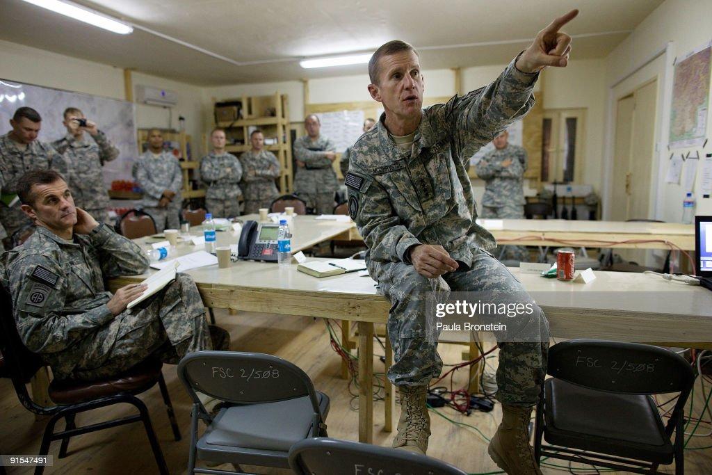 General McChrystal Vists Front Line Troops Near Kandahar