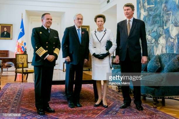 Commander in Chief of the Chilean Navy Admiral Julio Leiva Molina President of Chile Sebastián Piñera Princess Anne Princess Royal and Vice Admiral...