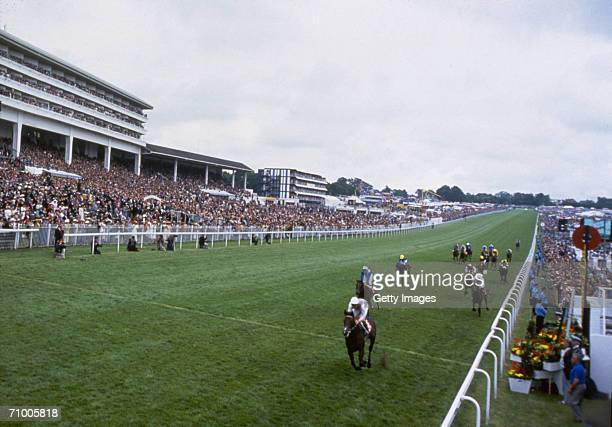 Commander in Chief ridden by jockey Michael Kinane wins the Epsom Derby in 1993 held at Epsom Downs in Epsom Surrey England