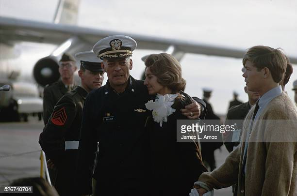 Commander Lloyd Bucher is greeted by his wife Cindy upon returning from captivity in North Korea He and his crew aboard the USS Pueblo were captured...