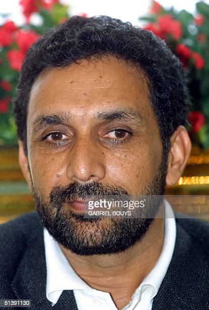 Commander Masood ZiaAhmed of the Northern Alliance of Afghanistan brother of slain opposition commander Ahmad Shah Masood poses during a press...