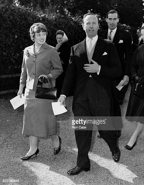 Commander Michael Parker former secretary of Prince Philip attending the wedding of his former secretary Patricia Thomas at Stoke Poges Parish Church...