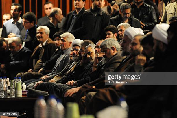 """Commander of Iran's Qods Force Qassem Soleimani attends the remembrance of a Qods Force """"martyr,"""" Brig. Gen. Hassan Shateri, killed a year ago in..."""