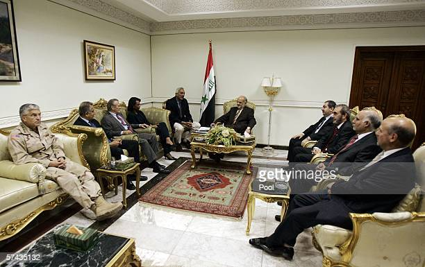 US commander of MultiNational forces in Iraq General George Casey US Ambassador to Iraq Zalmay Khalilzad Defense Secretary Donald Rumsfeld and...