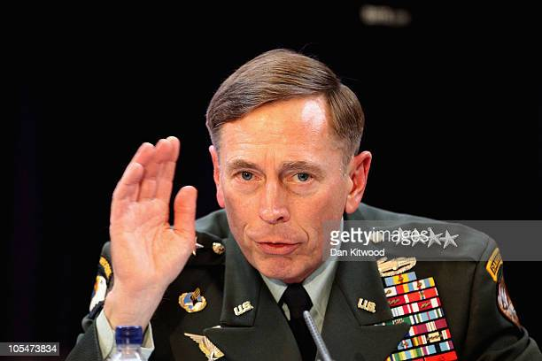 Commander of the NATO International Security Assistance Force and US Forces in Afghanistan General David Petraeus addresses RUSI members on The...