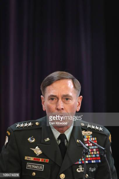 Commander of the NATO International Security Assistance Force and US Forces in Afghanistan General David Petraeus addresses RUSI members on �The...