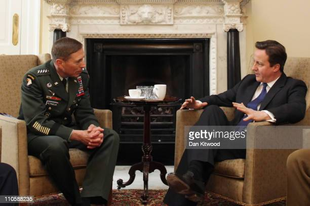 Commander of the NATO International Security Assistance Force and US Forces in Afghanistan General David Petraeus has a Meeting with British Prime...