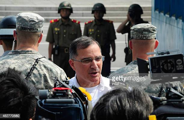 Commander of the United Nations Comand Combined Forces Command and United States Forces Korea Gen Curtis Scaparrotti speaks to media as as North...