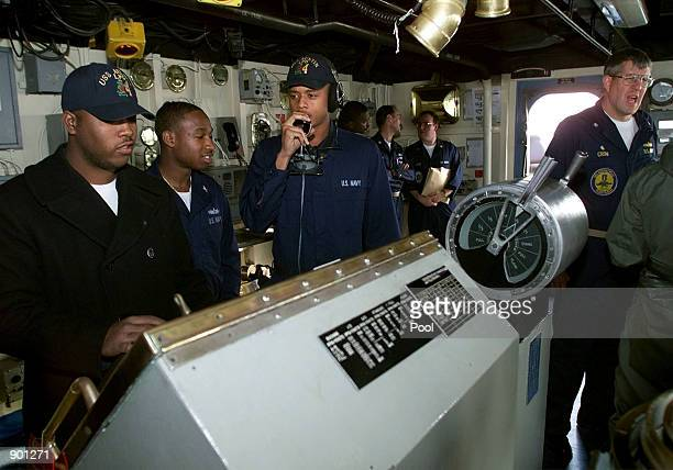 USN Commander William Crow Captain of the the USS Austin and his crew work at the scene of the crash of EgyptAir Flight 990 in the Atlantic Ocean...