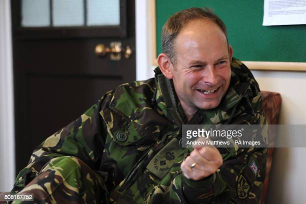 Commanding Officer of the 1st Battalion of the Royal Irish Regiment LtCol Colin Weir is interviewed in his office at Clive Barracks Ternhill...