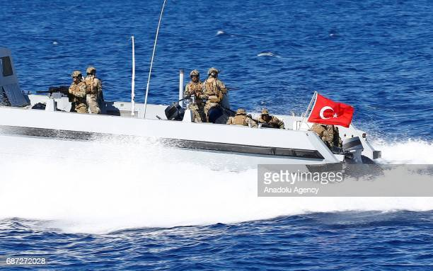 SAS commandos take part in Denizkurdu 2017 military exercise in Mugla Turkey on May 23 2017 Tuesday has been marked as the distinguished observers...