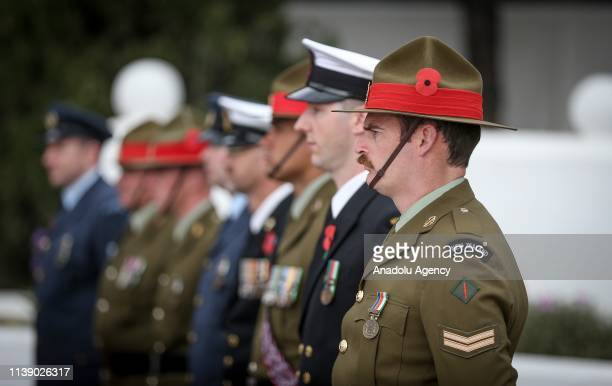 Commemoration ceremony is held at the Martyrs' Memorial on the occasion of the 104th anniversary of Canakkale Land Battles on Gallipoli Peninsula on...