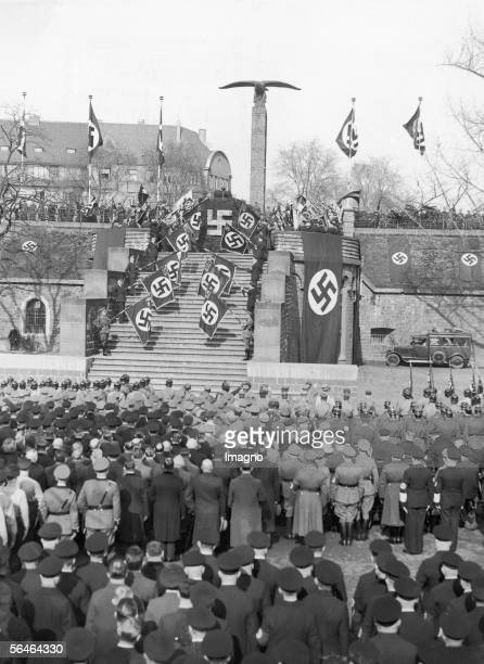 Commemoration for soldiers killed in action at the Hindenburgmonumet in Cologne Germany Photography 831936 [Gedenkfeier am HindenburgDenkmal in Koeln...