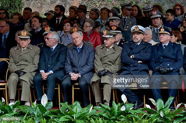 Commemoration for the 72th anniversary of the massacre Fosse Ardeatine made in Rome by the occupation troops of Nazi Germany the March 24 were killed...