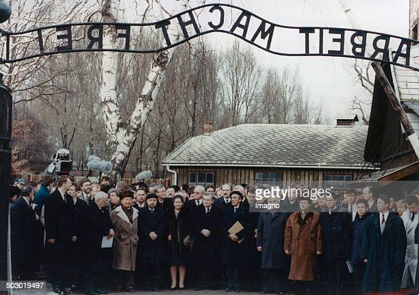 Commemoration of the 50th anniversary of the liberation of the concentration camp AuschwitzBirkenau Poland Photograph 1995