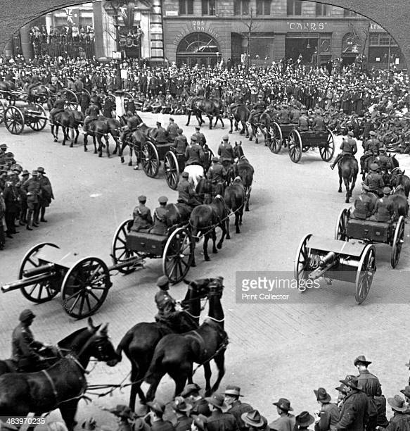 Commemoration of the end of World War I London 1919 The ANZACs witness the review of the Empire's Forces The Dominion troops victory march was held...