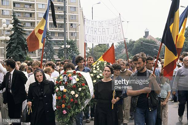 Commemoration of Timisoara riots of December 89 in Timisoara Romania on June 17 1990