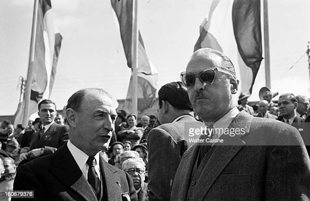 Commemorations Of Appeal Of 18 Juin 1940: Ceremonies And Communists And Gaullists Demonstrations. Paris, 18 juin 1949 : les cérémonies commémorant...