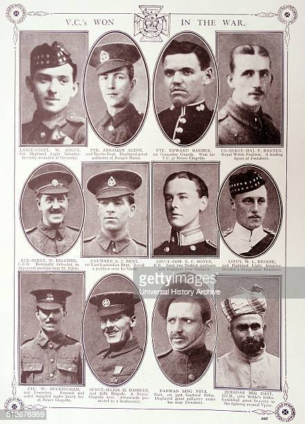 Commemorative article celebrating Victoria Cross medal winners from the British and Indian armies during world war one