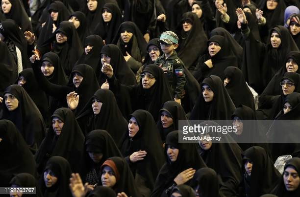 Commemorative ceremony held for Qasem Soleimani, commander of Iranian Revolutionary Guards' Quds Forces, who was killed in a U.S. Airstrike in Iraq,...