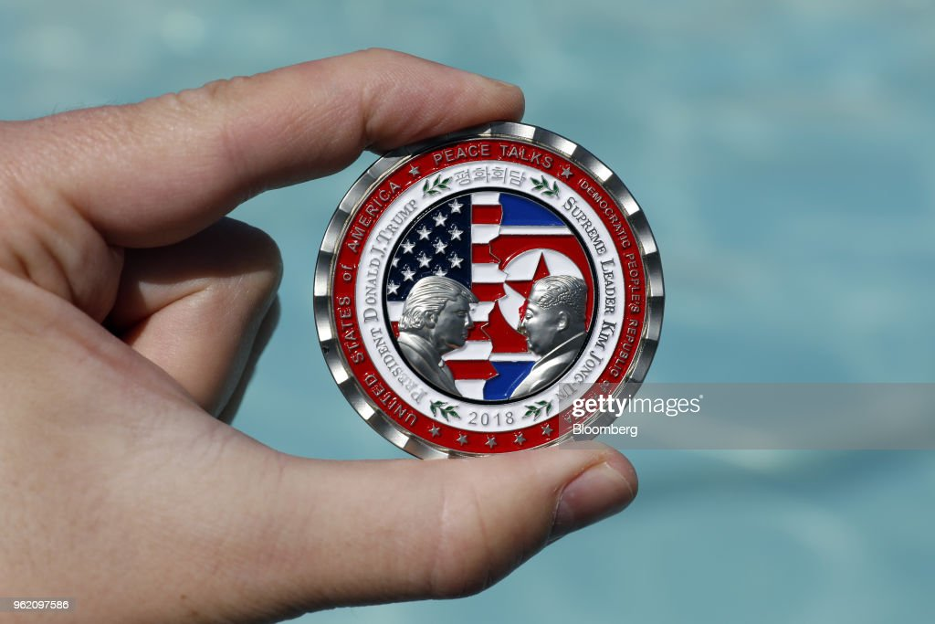 President Trump And North Korean Leader Kim Challenge Coin As Trump Cancels Summit