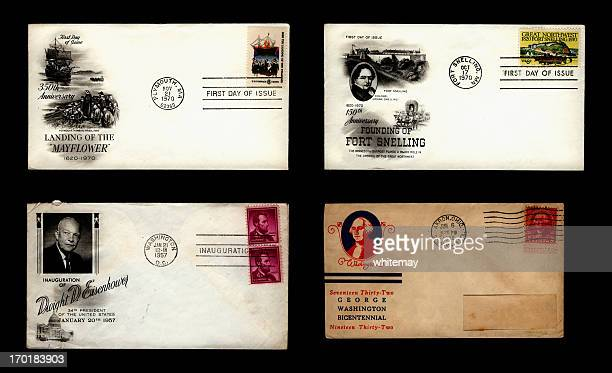 us commemorative envelopes - us president stock pictures, royalty-free photos & images