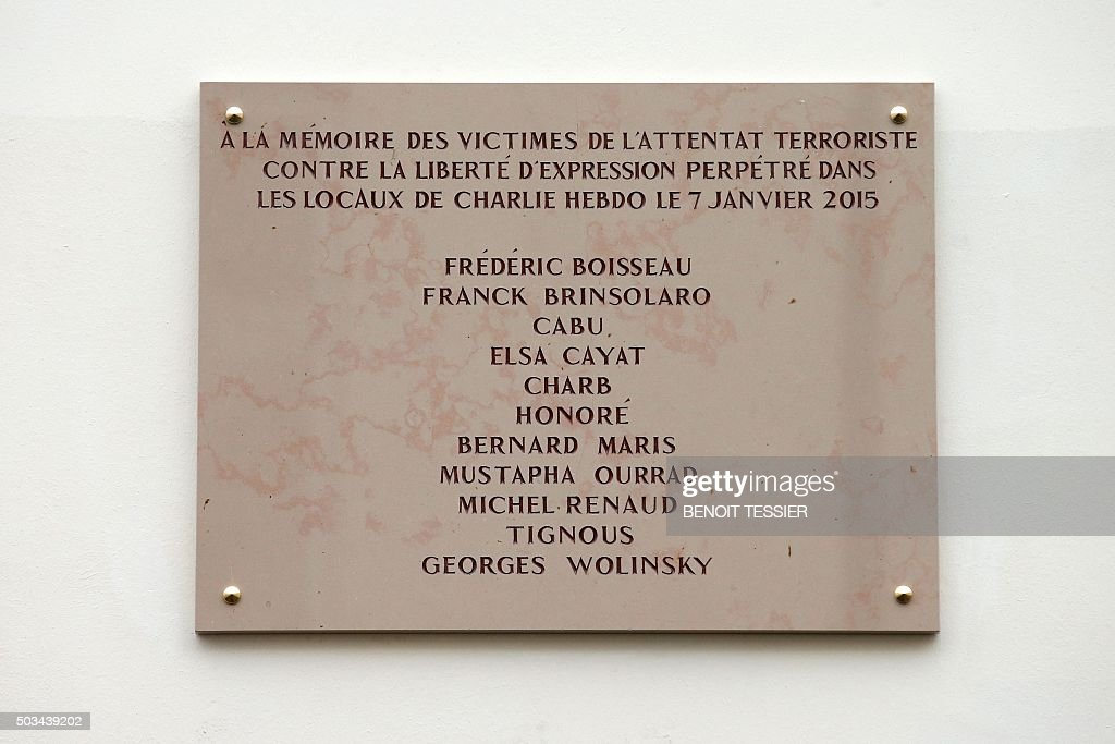 FRANCE-ATTACKS-MEDIA-CHARLIEHEBDO-ANNIVERSARY : Fotografia de notícias