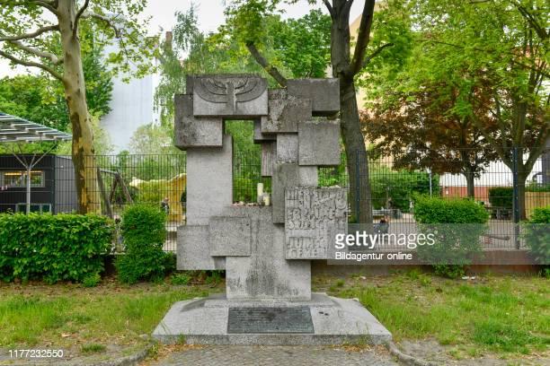 Commemorative table, synagogue, Munich street 37, beauty's mountain, Berlin, Germany, Gedenktafel, Synagoge, Munchener Strasse 37, Schoneberg,...
