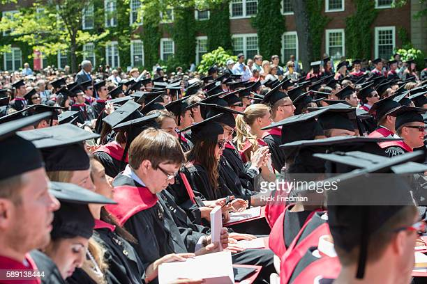 Commencement ceremonies at the Harvard Business School campus in Boston MA on May 29 2014