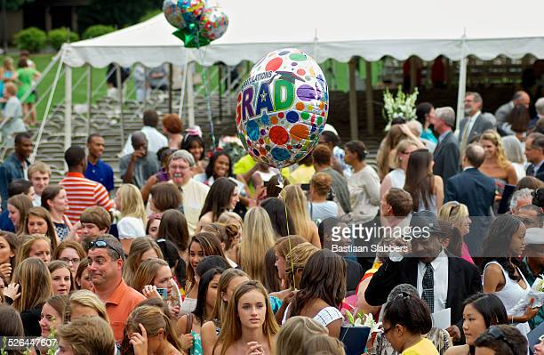 commencement ceremony at springside chestnut hill academy, nw philadelphia - basslabbers, bastiaan slabbers stock pictures, royalty-free photos & images
