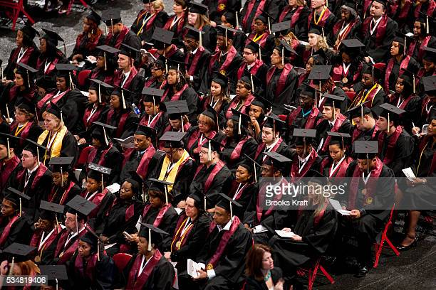 A commencement ceremony for Strayer University a private forprofit educational institution Strayer University specializes in higher education for...