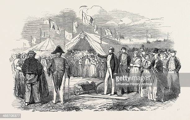 Commencement Of The Works Of The Netherlands Land Enclosure, At Hanswerk, 1852; In The River Scheldt, Between The Towns Of Bergen-Op-Zoom And...