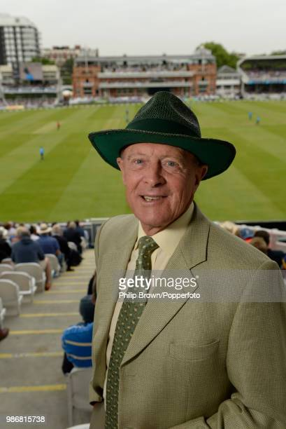 Commentator and former England and Yorkshire cricketer Geoffrey Boycott stands at the back of the Edrich Stand during the 4th Royal London One Day...