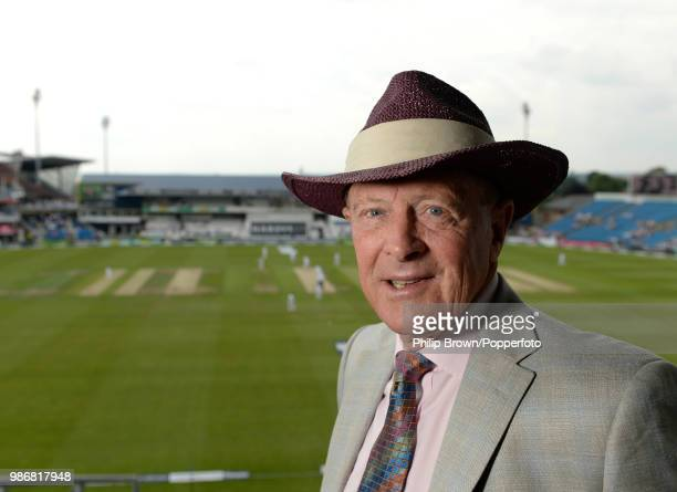 Commentator and former England and Yorkshire cricketer Geoffrey Boycott during the 2nd Test match between England and Sri Lanka at Headingley Leeds...