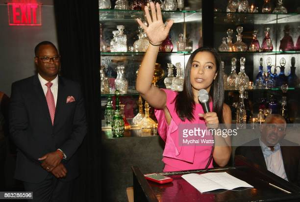 CNN commentator Angela Rye hosts the 'Kicked It In Heels' Cancer Fundraiser at Beautique on October 18 2017 in New York City