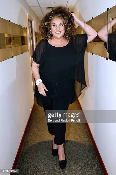 Commentator for France to the Eurovision song contest Vienna 2015, singer Marianne James attends the 'Vivement Dimanche' French TV Show at Pavillon...