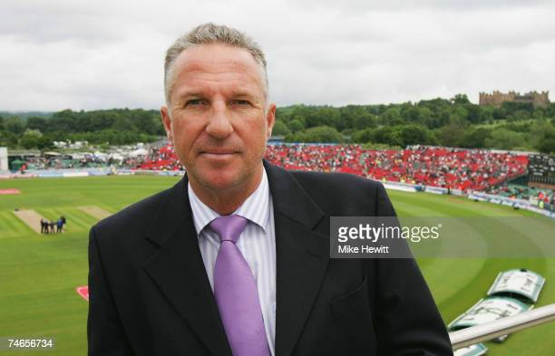 Commentator Ian Botham looks on ahead of day two of the Fourth Test match between England and the West Indies at the Riverside Ground on June 16 2007...