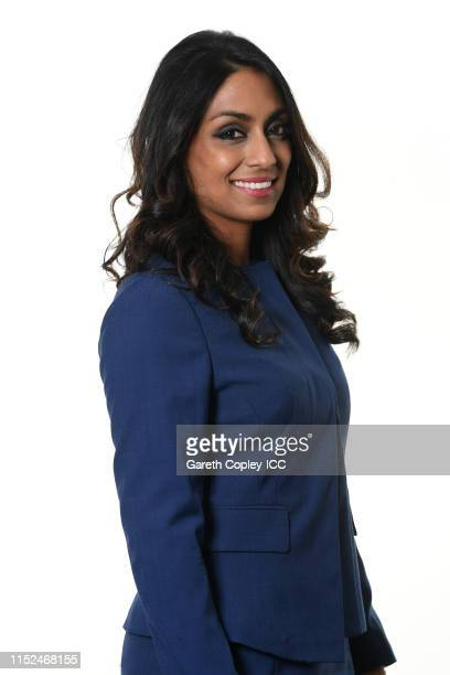 Commentator Isa Guha poses for a portrait prior to the ICC Cricket World Cup 2019 at on May 29 2019 in London England