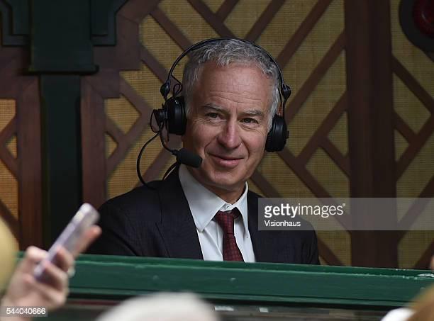 Commentator John McEnroe at Wimbledon on June 29 2016 in London England