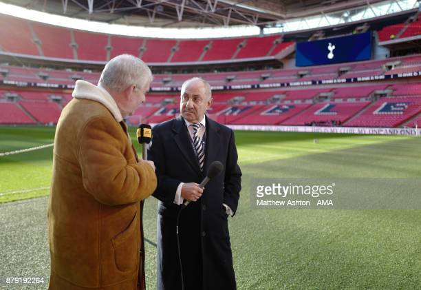 BBC commentator John Motson and former West Bromwich Albion manager and Tottenham Hotspur player Osvaldo Ardiles during the Premier League match...