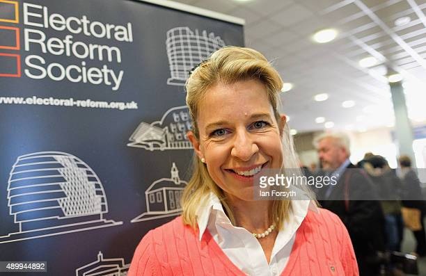 Commentator Katie Hopkins poses for a photo during the UK Independence Party annual conference where she spoke to a fringe group about electoral...