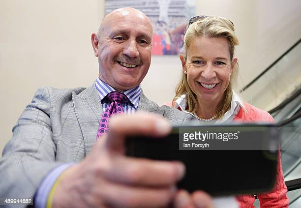 Commentator Katie Hopkins poses for a selfie during the UK Independence Party annual conference where he spoke to a fringe group about electoral...