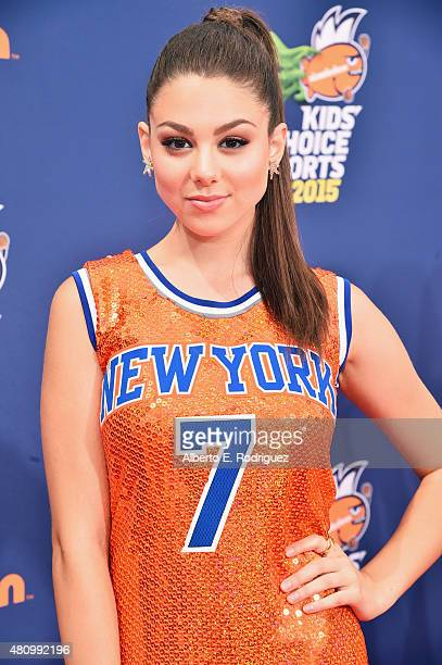 Commentator Kira Kosarin attends the Nickelodeon Kids' Choice Sports Awards 2015 at UCLA's Pauley Pavilion on July 16 2015 in Westwood California
