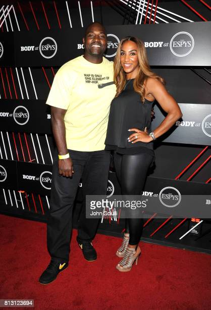 Commentator Marcellus Wiley and Annemarie Wiley at BODY at ESPYS at Avalon on July 11 2017 in Hollywood California