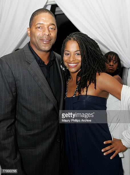 Commentator Norman Nixon and daughter Vivian Nixon arrive at LisaRaye's Studio 40 Birthday Bash on September 23 2007 at the Beverly Hills Hotel in...