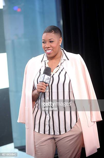 Commentator on CNN Symone Sanders speaks during MTV News Election Night The People's Playhouse at MTV Studios on November 8 2016 in New York City