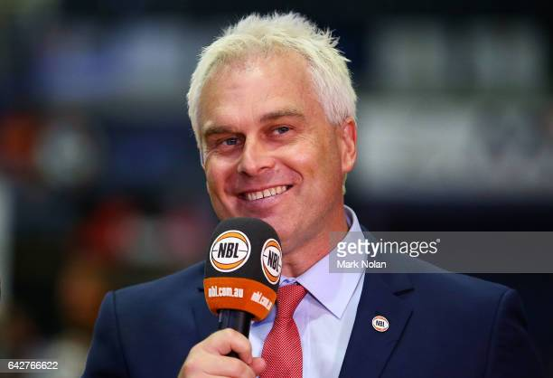 NBL commentator Shane Heal is pictured before the second NBL Semi Final match between Illawarra Hawks and the Adelaide 36ers at WIN Entertainment...