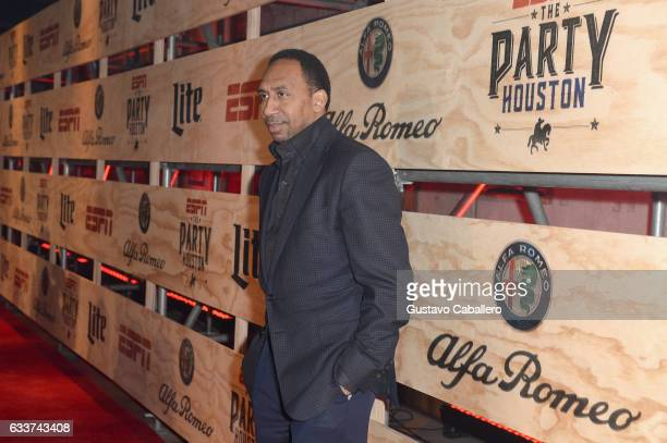 ESPN commentator Stephen A Smith attends the 13th Annual ESPN The Party on February 3 2017 in Houston Texas